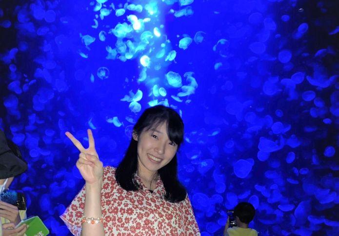 加茂水族館を訪れた千葉さん